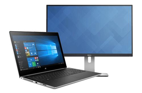 laptop en beeldscherm